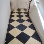 Checker floor after