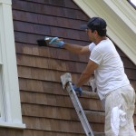 Shingle stain during